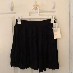Joie Pleated Black Skirt